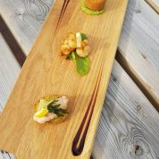 Trio of Fish (tempura prawn, smoked haddock fishcake, smoked salmon pate)