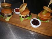 Trio of Burgers (venison, beef&chorizo, breaded chicken)