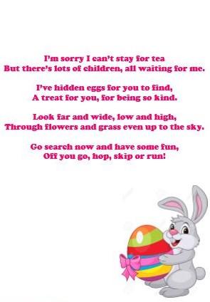 easter bunny poem